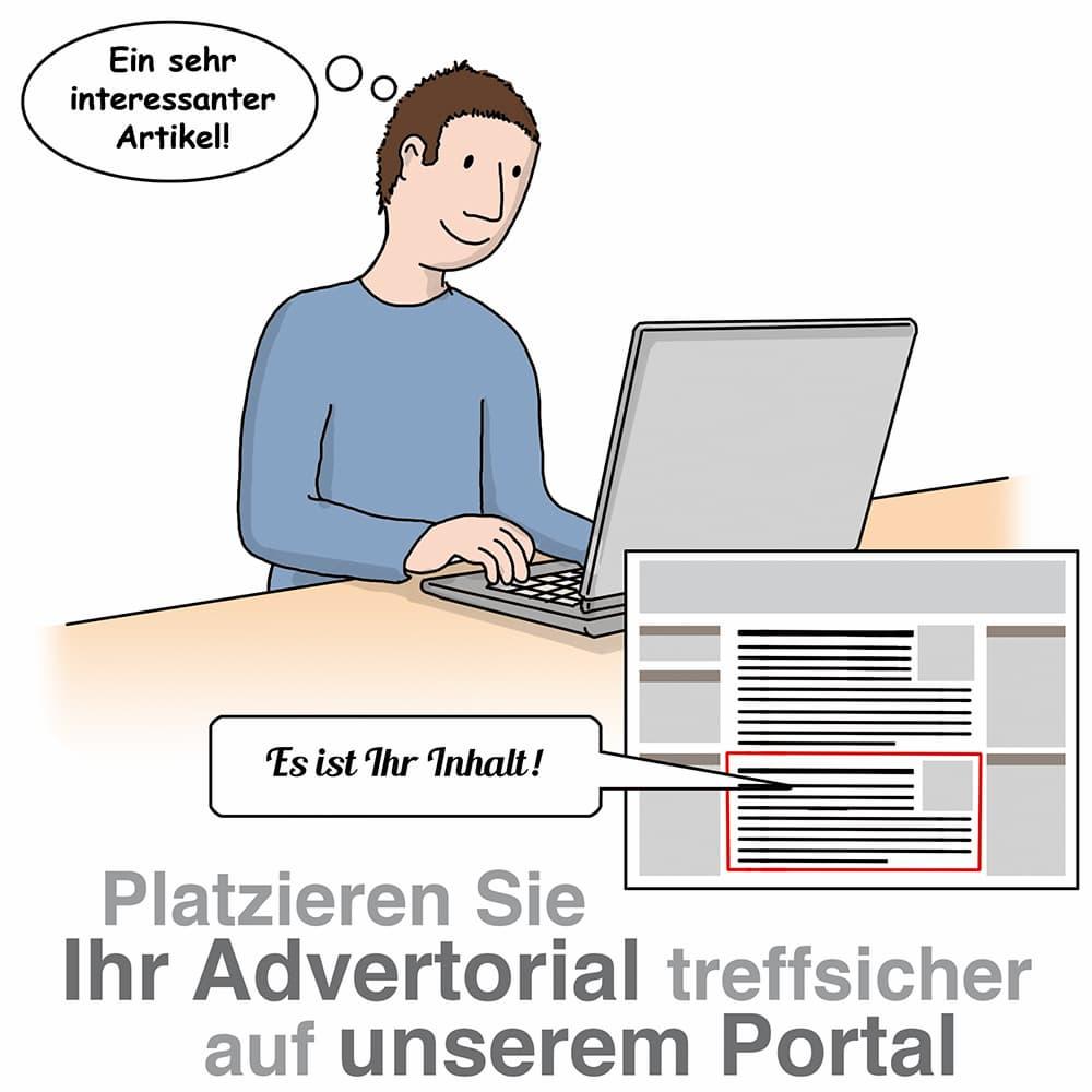 Plazieren Sie redaktionelle Artikel auf unserem Portal und stellen Sie ein Produkt oder eine Dienstleistung vor