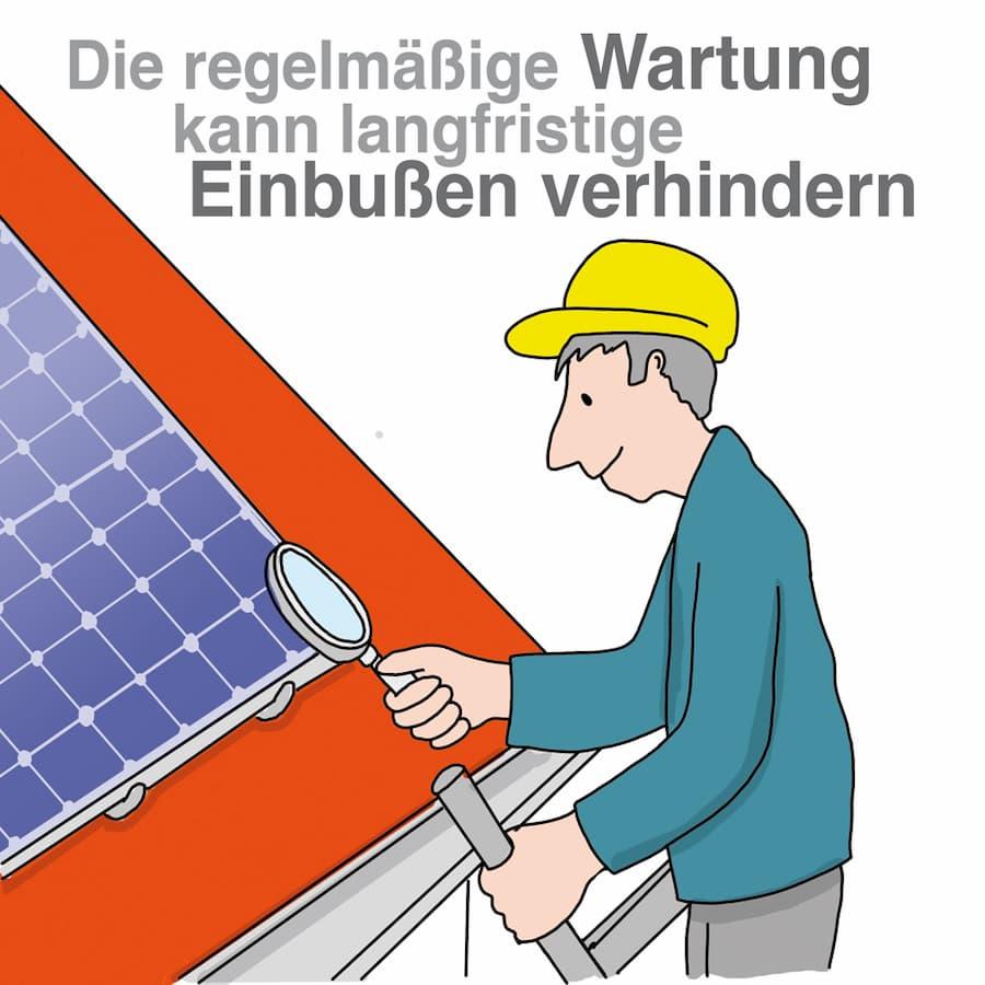 Photovoltaik:Regelmäßige Wartung ist sinnvoll