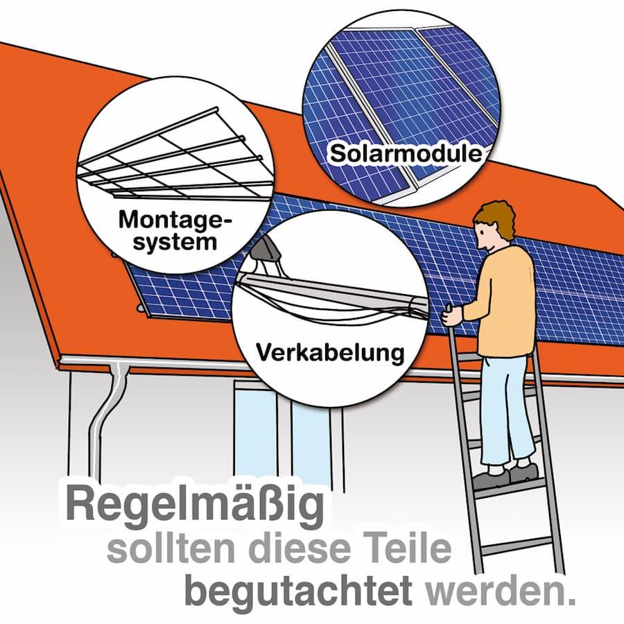 Photovoltaik: Regelmäßige Inspektion wichtiger Komponenten