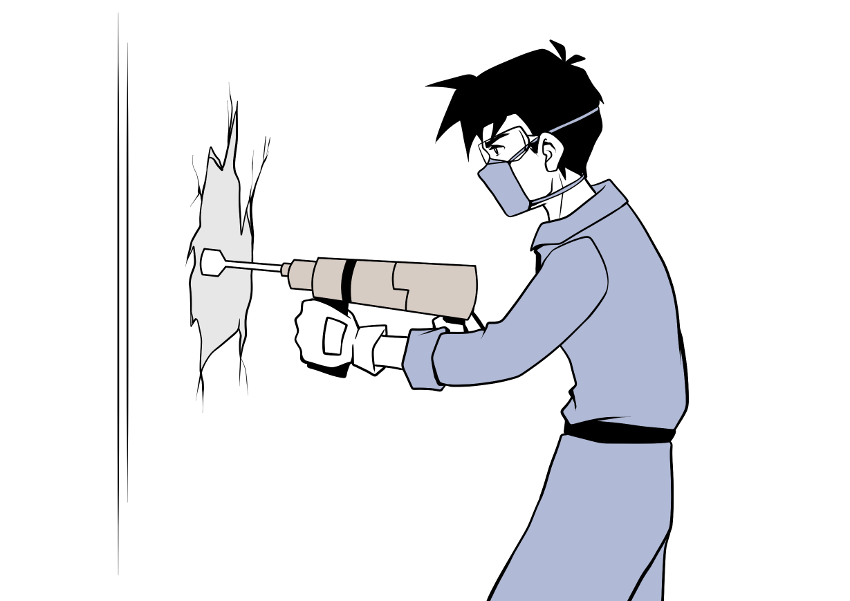 Putz entfernen mit einem Bohrhammer