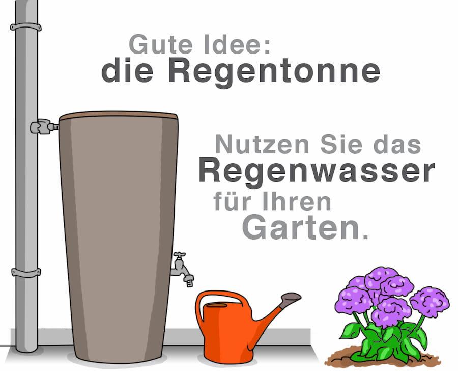 Gute Idee: Die Regentonne: Nutzen Sie das Regenwasser für Ihren Garten
