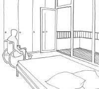 Barrierefreier Wohnbereich
