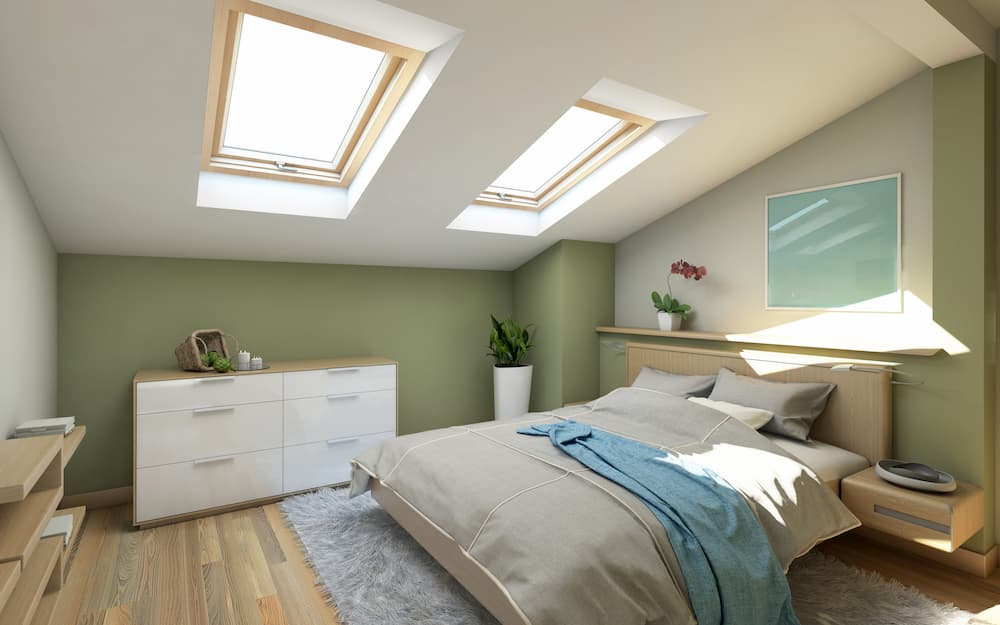 Dachschrage Und Farbwirkung Raume Unter Dem Dach Wirken Lassen