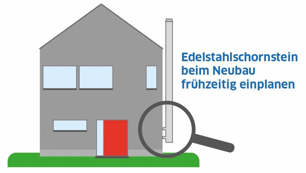 Edelstahlschornstein beim Neubau frühzeitig einplanen