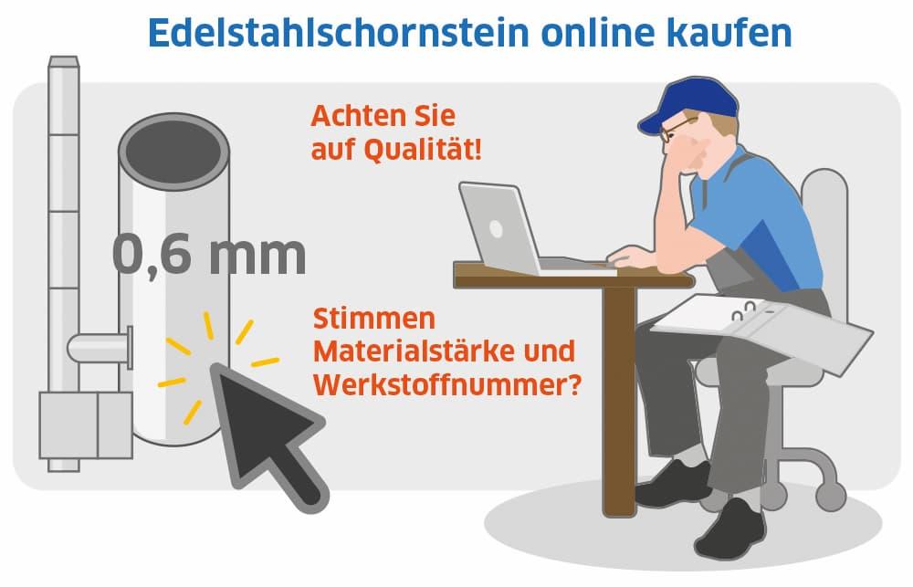 Edelstahlschornstein online kaufen: Darauf sollten Sie achten