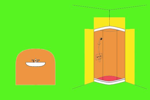 elektrische schutzbereiche im badezimmer. Black Bedroom Furniture Sets. Home Design Ideas