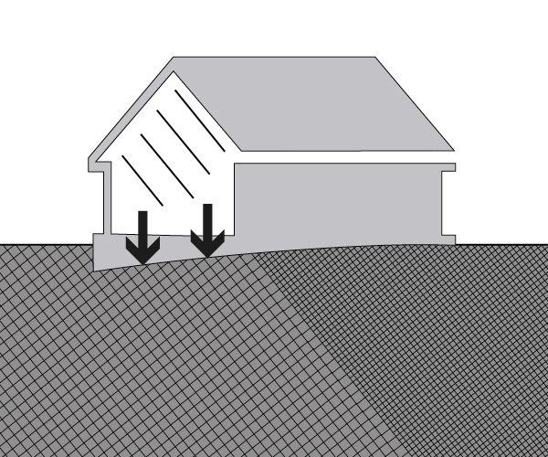 Setzrisse aufgrund der Baugrundbeschaffenheit
