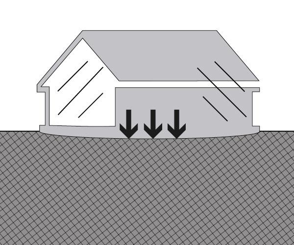 Setzrisse aufgrund unterschiedlicher Baulast