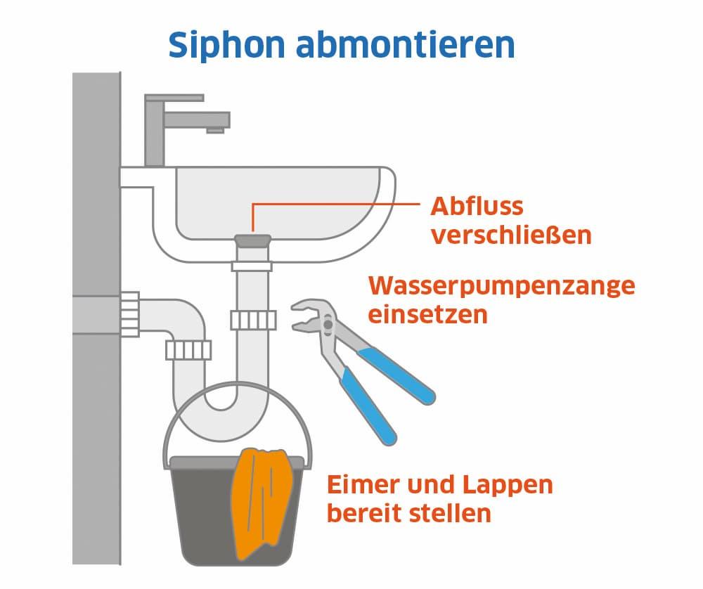 Siphon abmontieren: So gehts