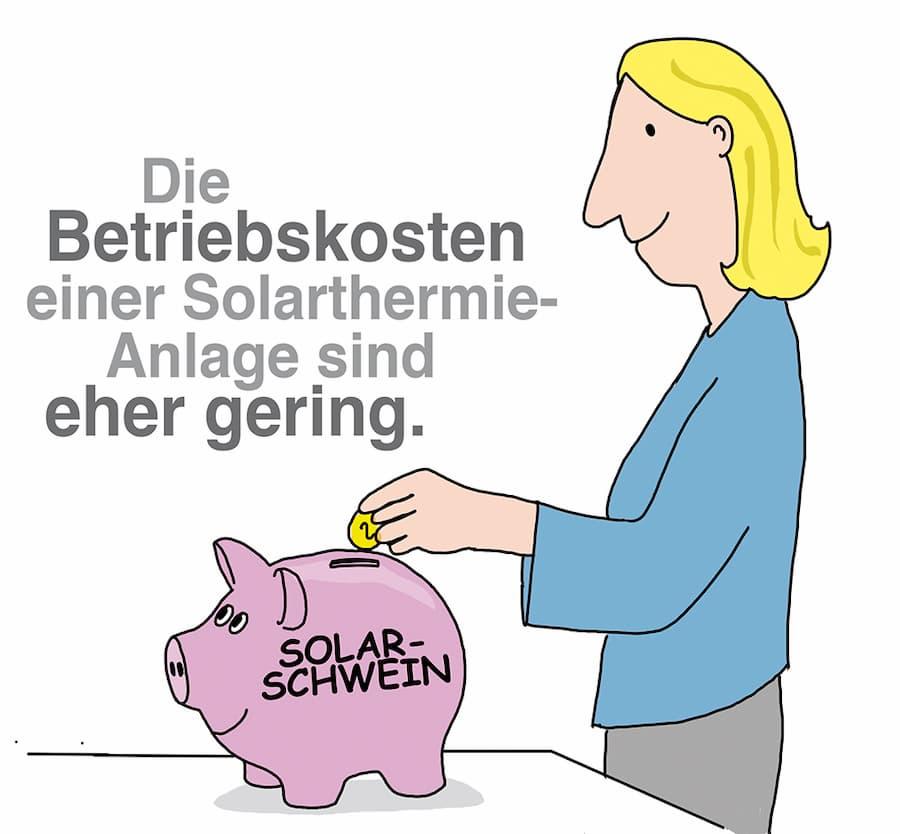 Solarthermie: Die Betriebskosten sind relativ gering