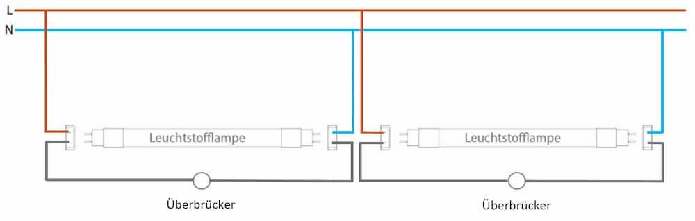 Tandemschaltung für LED-Röhren