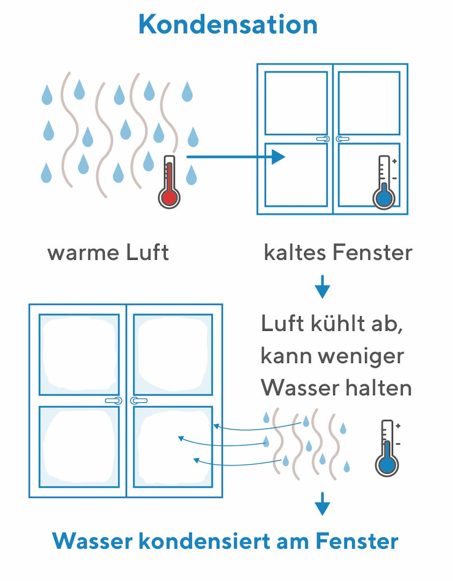 Kondensation am Fenster