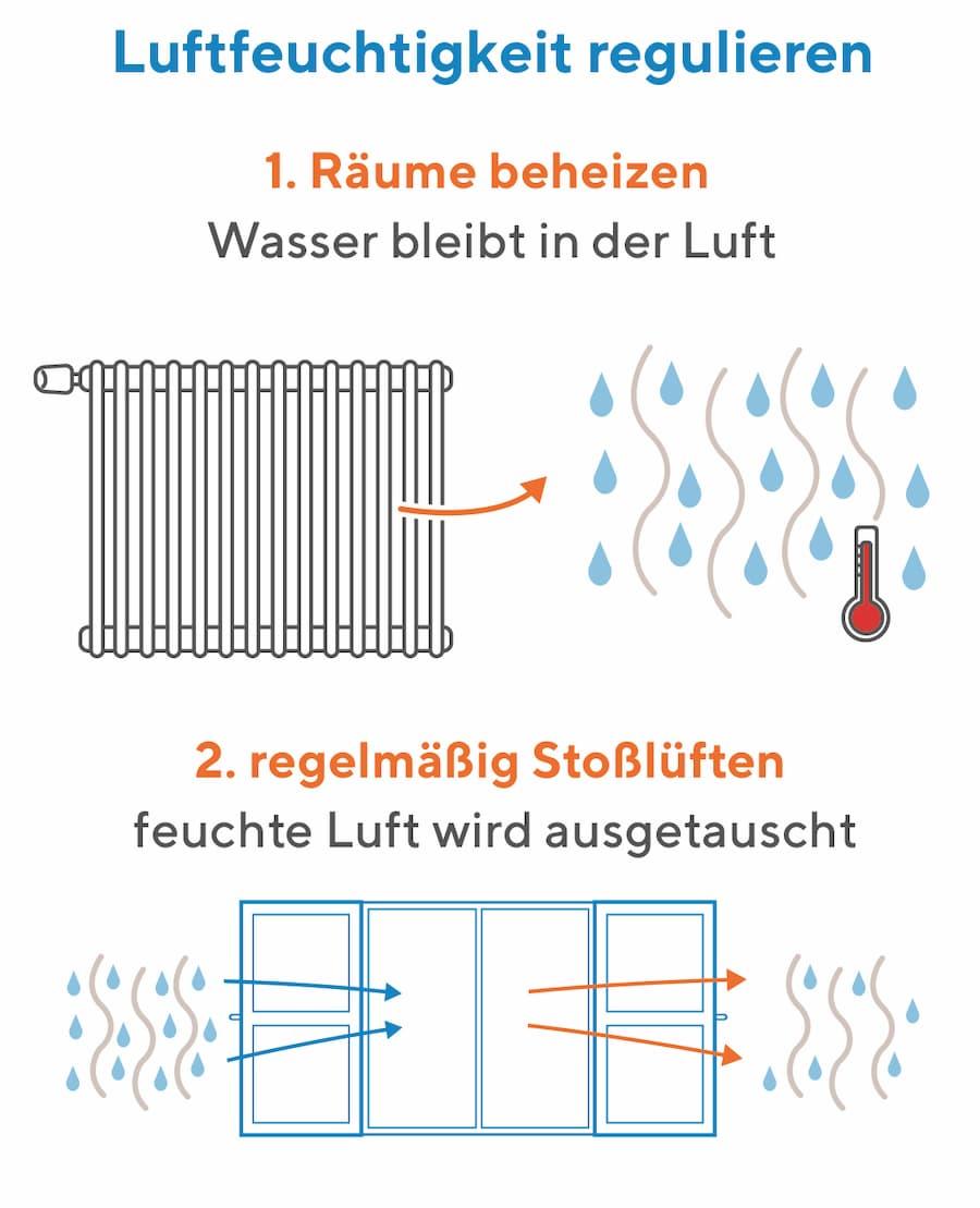 Luftfeuchtigkeit regulieren und Schimmel vermeiden