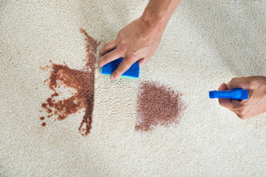 Teppichboden Flecken entfernen © Andrey Popov, fotolia.com