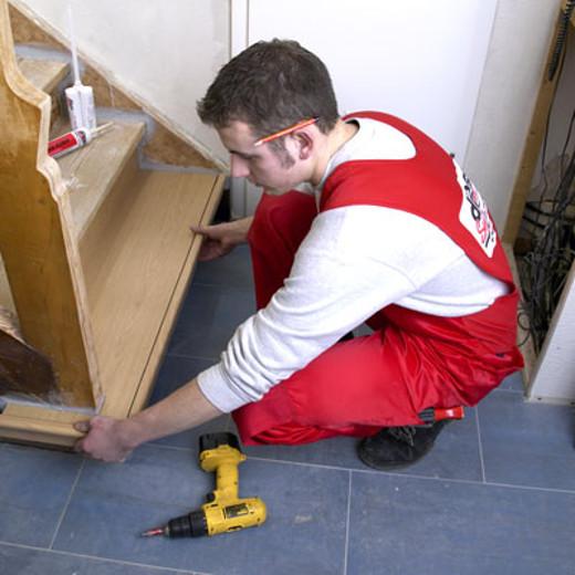Treppe sanieren durch Handwerker  © dress Treppenrenovierungssysteme GmbH
