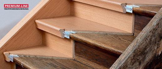 Treppensanierung mit Überbaustufen © dress Treppenrenovierungssysteme GmbH