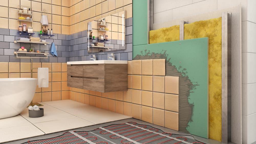 Trockenbau mit Fliesen im Badezimmer © sveta, stock.adobe.com