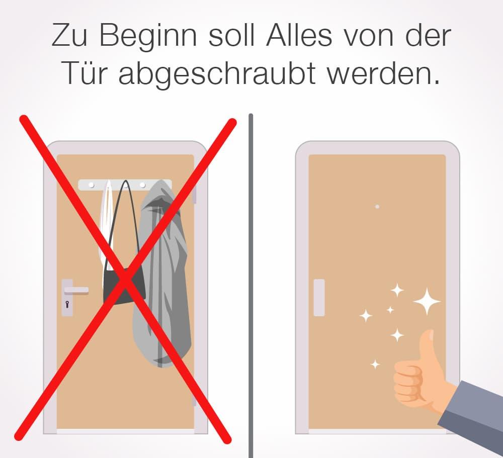 Türe mit Folie bekleben: Türe richtig vorbereiten