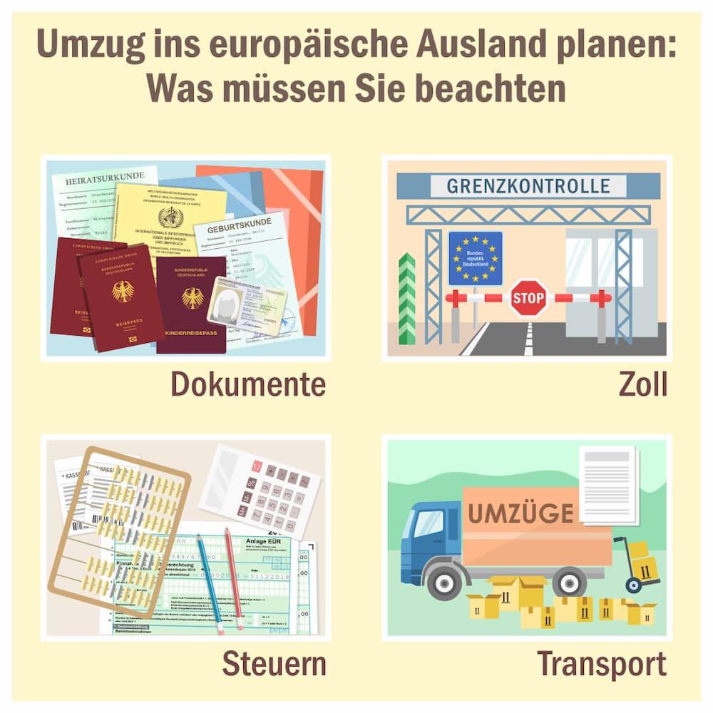 Umzug ins europäische Ausland planen: Das müssen Sie beachten