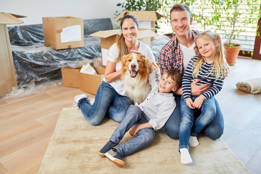 Familien Umzug mit Hund © Robert Kneschke, stock.adobe.com