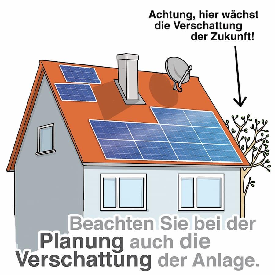 Solaranlage: Beachten Sie mögliche Verschattungen