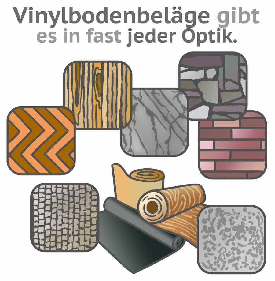 Vinylbodenbeläge gibt es in fast jeder Optik