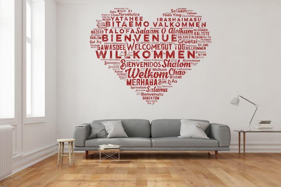 Wandmotive Willkommen © Robert Kneschke, stock.adobe.com