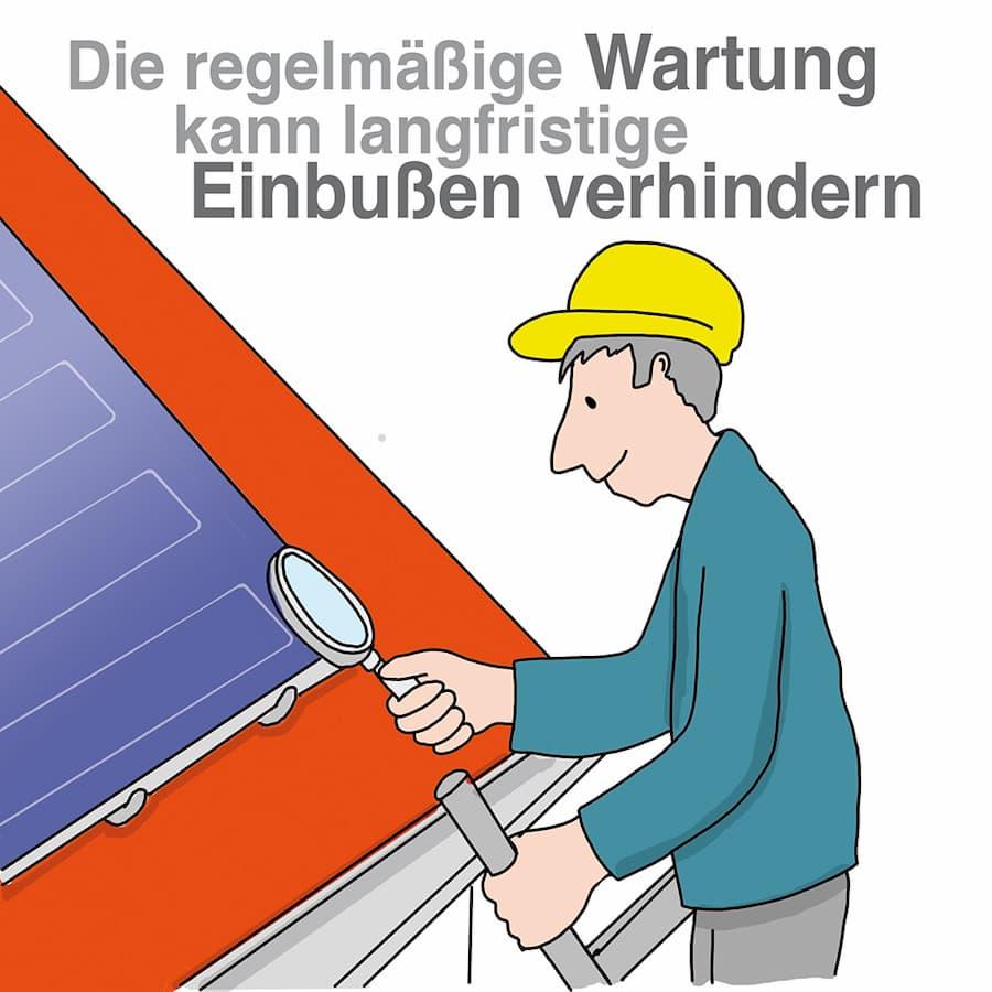 Solarthermie: Regelmäßige Wartung ist sinnvoll