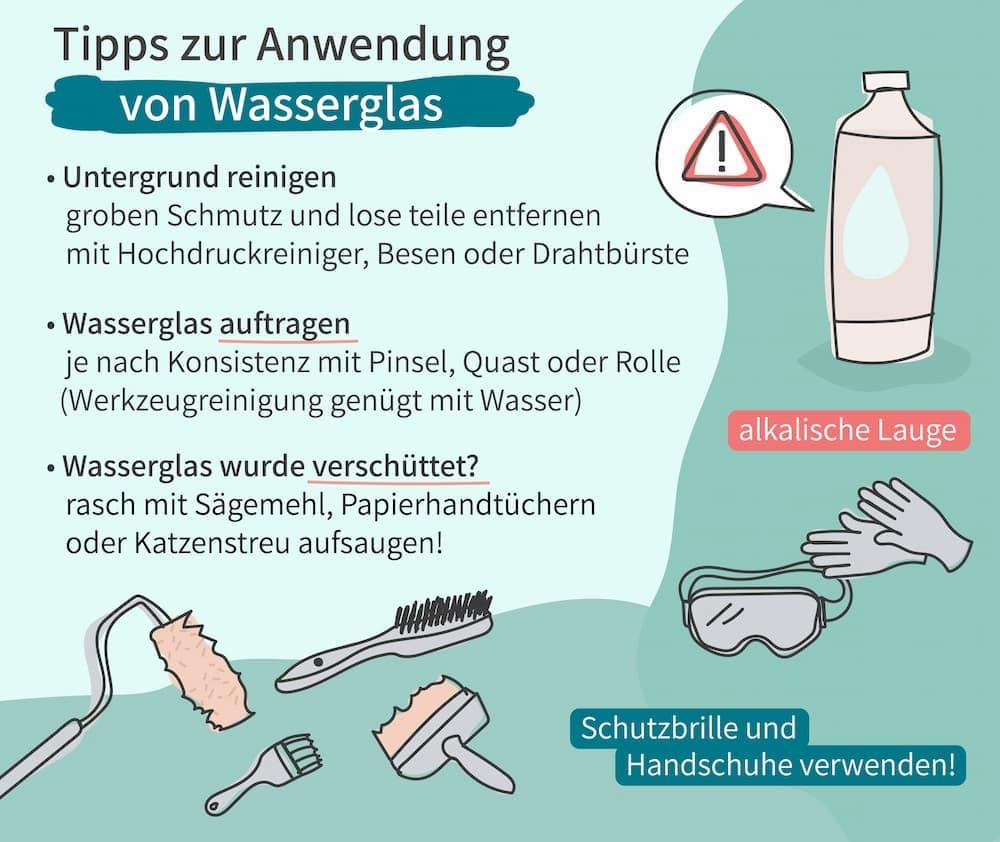 Tipps zur Anwendung von Wasserglas