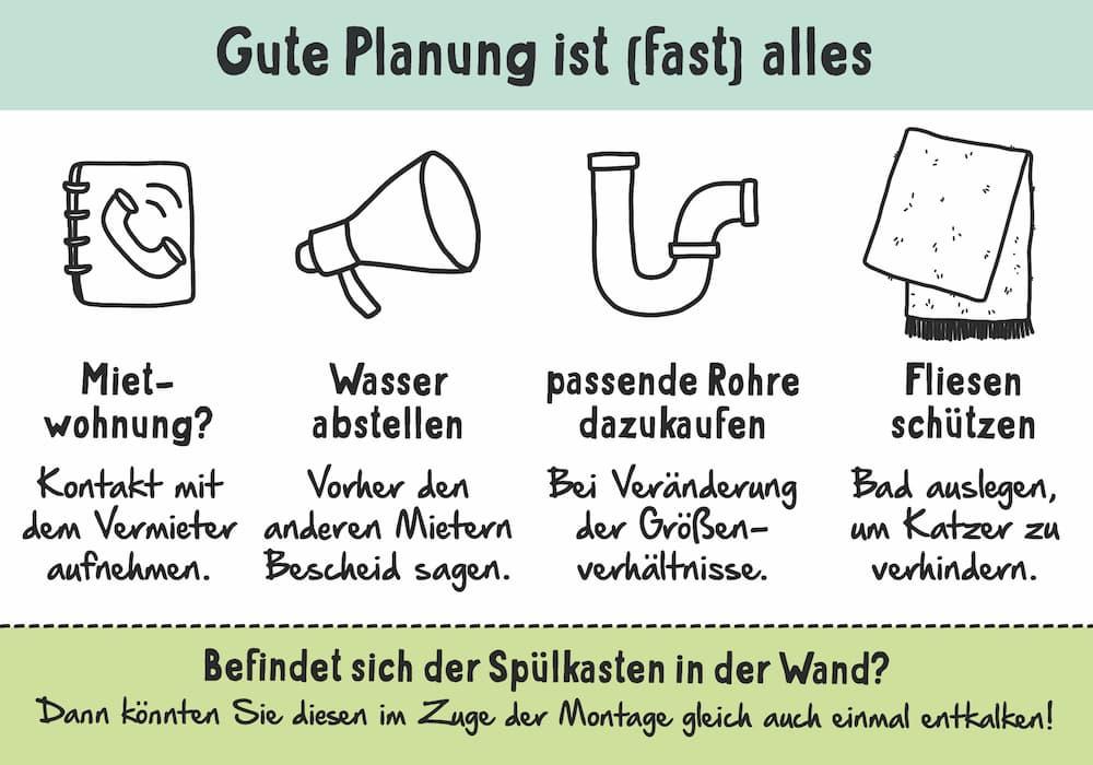 WC austauschen: Gute Vorbereitung ist wichtig