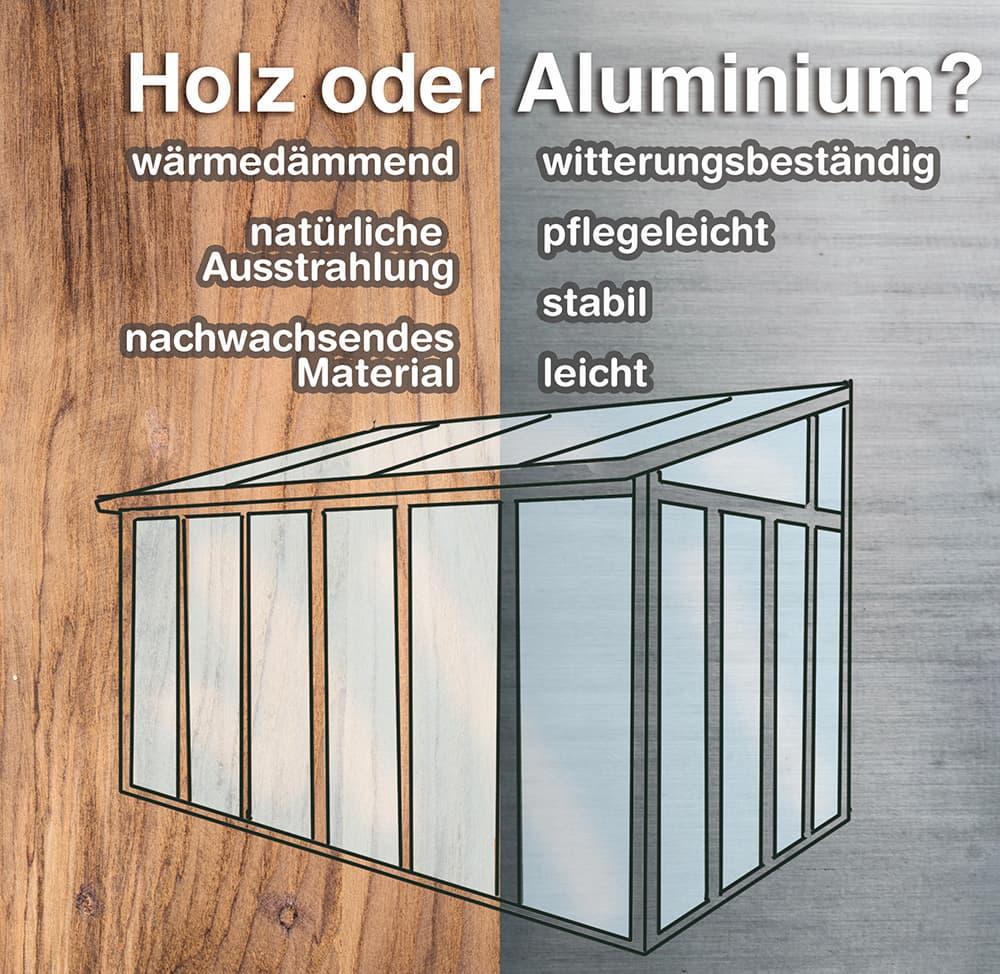 Wintergarten Material: Holz oder Aluminium?