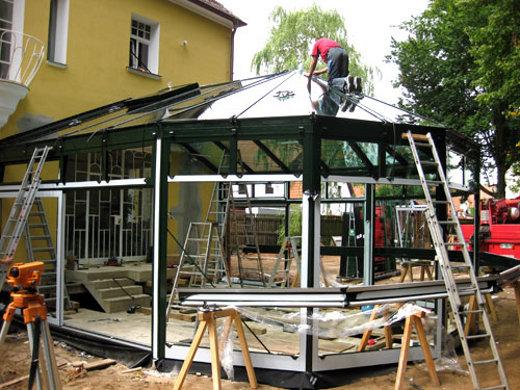 Arbeiten am Wintergarten ©  GLALUM Glas + Aluminium GmbH